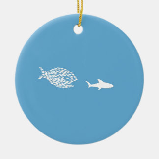Shark attack christmas ornament