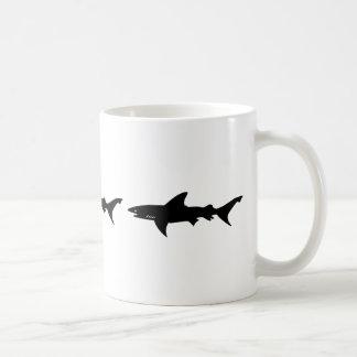 Shark Attack - Diving with Sharks Elegant Black Basic White Mug