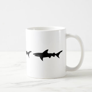 Shark Attack - Diving with Sharks Elegant Black Coffee Mug