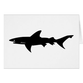 Shark Attack - Diving with Sharks Elegant Black Greeting Card