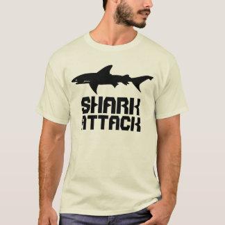 SHARK Attack!  Drawing of Shark and Warning Text T-Shirt