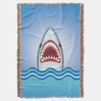 Shark Attack Funny Boy's Bedroom Blanket