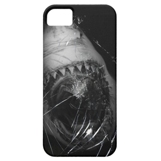 Shark Attack Great White Broken Glass Iphone 5 iPhone 5 Cases