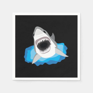 Shark Attack - Great White Shark Disposable Napkins
