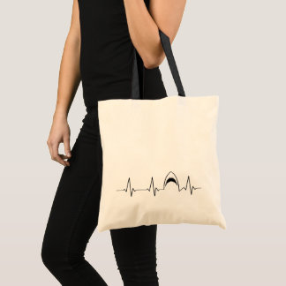 Shark Attack Heart Line | I Love Sharks! | Tote Bag