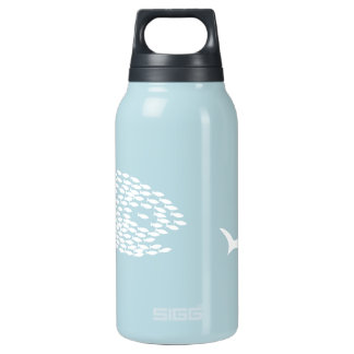 Shark attack insulated water bottle