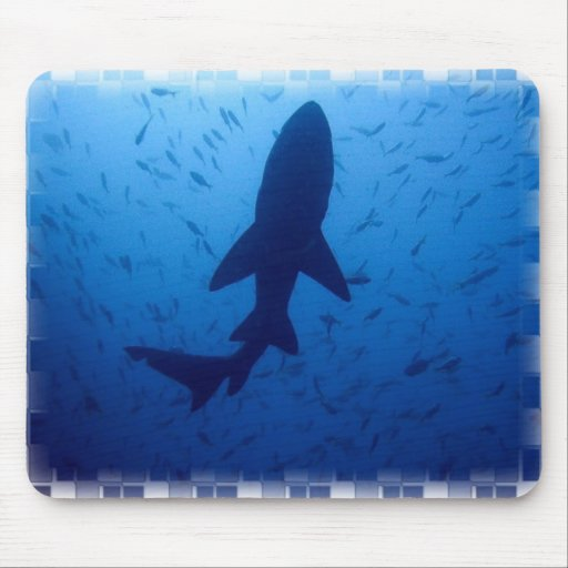 Shark Attack Mouse Pad