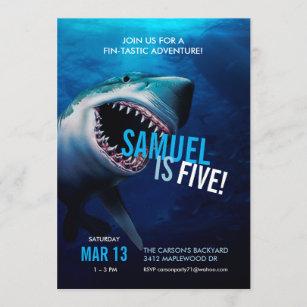 Shark Attack   Ocean Invitation Boys Birthday