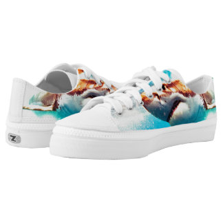 Shark attack Shoes Printed Shoes