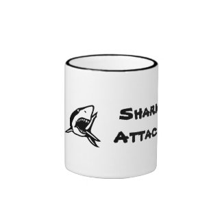 Shark Attack with a shark font Mug
