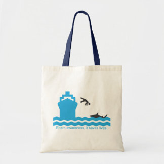 Shark Awareness, it saves lives. Tote Bag
