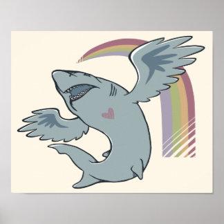 Shark Bird Print