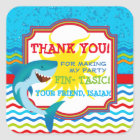 Shark Birthday Party Favour Tag Sticker