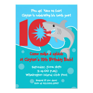 Shark Bite Invitations Announcements Zazzle Uk