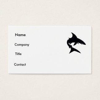 shark card. business card