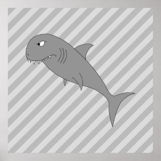 Shark Cartoon. Poster