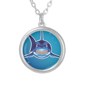 Shark Cartoon Silver Plated Necklace
