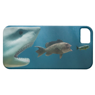Shark chasing sea bass chasing juvenile barely there iPhone 5 case