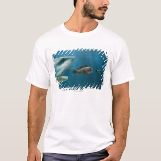 Shark chasing sea bass chasing juvenile T-Shirt
