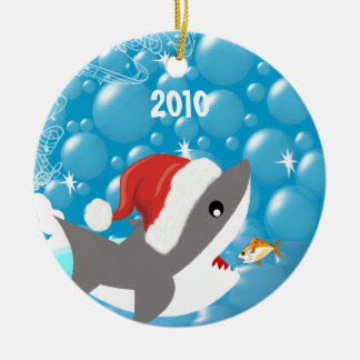 Shark Christmas Ornament Vacation Keepsake