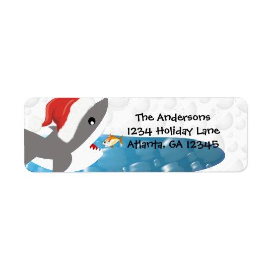 Shark Christmas Return Address Return Address Label