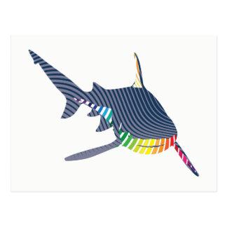 Shark Color Swoosh Postcard