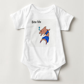 Shark dancer baby bodysuit
