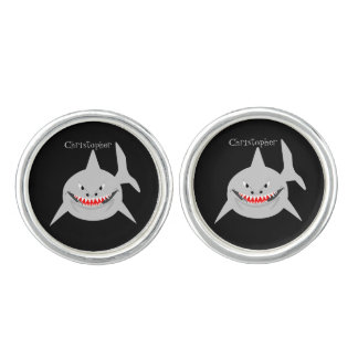 Shark Design Just Add Name Cuff Links