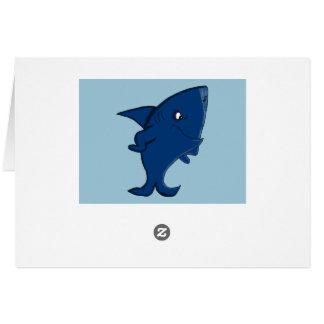 Shark design statonery card