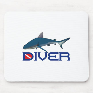 SHARK DIVER MOUSE PAD