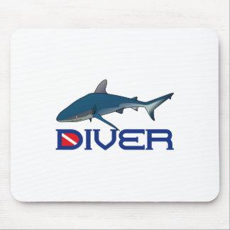 SHARK DIVER MOUSE PADS