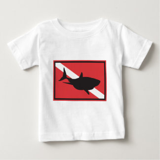 Shark Diving Flag Baby Baby T-Shirt
