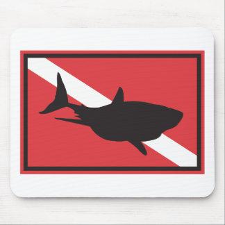 Shark Diving Flag Mouse Mat