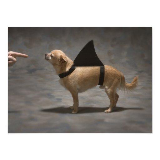"Shark Dog Invitation 5.5"" X 7.5"" Invitation Card"