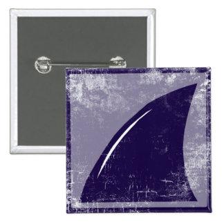 shark fin 15 cm square badge