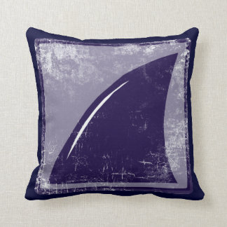 shark fin blue-color cushion