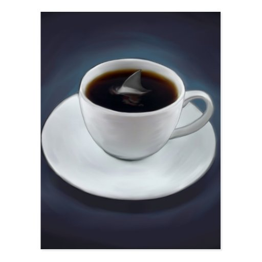 Shark Fin Coffee Postcard