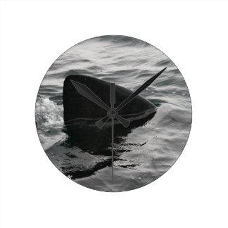 Shark Fin Round Clock