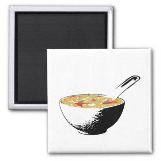 shark fin soup square magnet