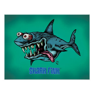 SHARK FINK!! POSTER