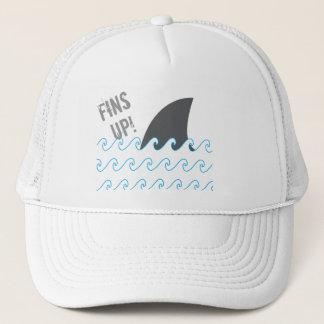 Shark Fins Up Waves Funny Hat