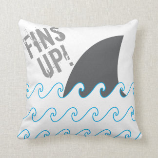 Shark Fins Up Waves Pillow Case Cover.