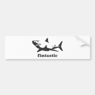 Shark - fintastic bumper sticker