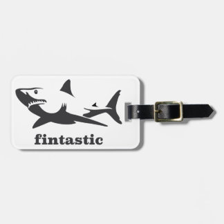 Shark - fintastic luggage tag