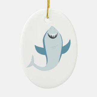 Shark Fish Ceramic Oval Decoration