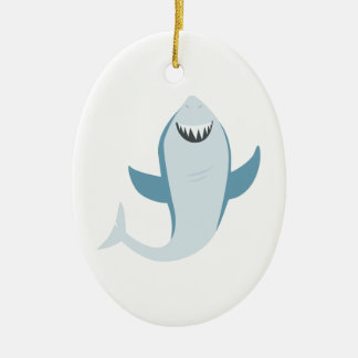 Shark Fish Christmas Ornament