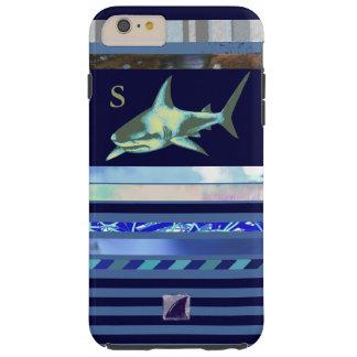 shark fish sea-animal blue-color tough iPhone 6 plus case
