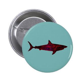 shark fish underwater 6 cm round badge