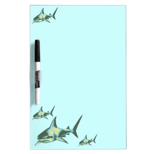 shark fish, wild animals dry erase board