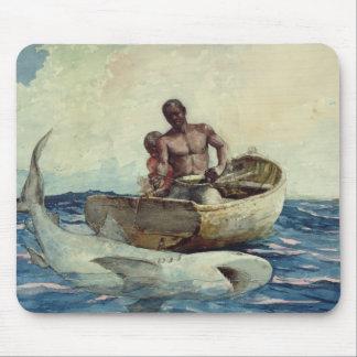 Shark Fishing, 1885 Mouse Mat